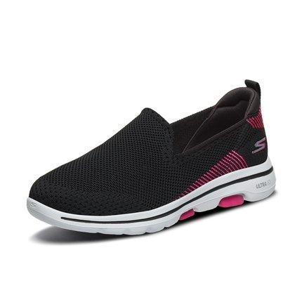 Giày nữ trào lưu Hot  Skechers Giày nữ mới Giày đế bệt một bộ giày đi bộ thoáng khí dệt lưới bình th
