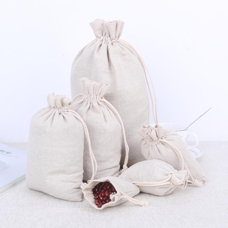 Thị trường bao bì khác / bao bì vải / bao bì giấy Túi cotton tự nhiên Túi vải cotton bó dây rút Túi