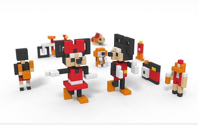 Đồ chơi khăm Phong cách khối từ tính khối tụ đồ chơi ghép hình thanh hộp hộp tám gram quà cho trẻ em