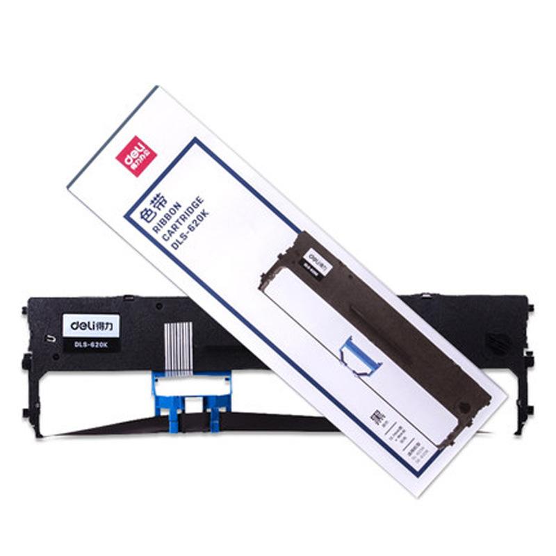 DELI Ruy băng màu Hiệu quả giữ ruy băng DE-620k ban đầu + lõi ruy băng cho kim máy in 620K