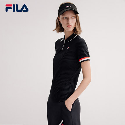 Áo thun FILA Fila Official Áo sơ mi nữ tay ngắn mùa hè 2019 Thể thao mới đan ngắn POLO mặc của phụ n