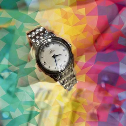 Đồng hồ thông minh  OMEGA Đồng hồ Omega nữ thạch anh đồng hồ nữ kim cương Món ăn bay loạt thời trang
