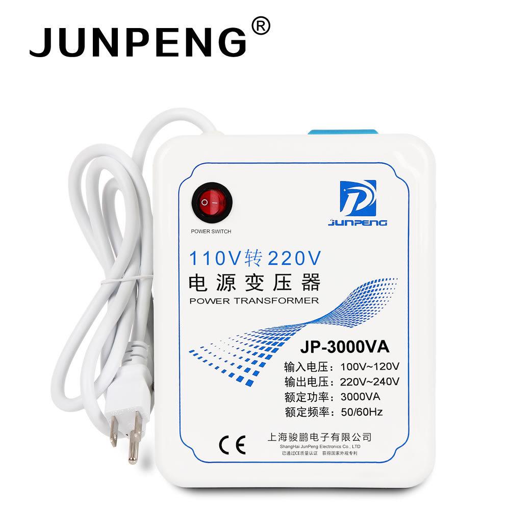 Jun Peng Bình điều áp 3000W Foot Power Transformer 110 đến 220
