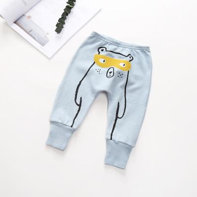 Quần trẻ em  2019 bé trai mới quần trẻ em Quần âu Hàn Quốc quần trẻ em mùa thu rắn màu hoạt hình một
