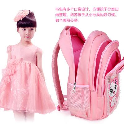 Cặp học sinh Hot Trẻ em 1-3-4-6 lớp vai 7-9-12 tuổi nữ sinh tiểu học Phiên bản Hàn Quốc của ba lô cô