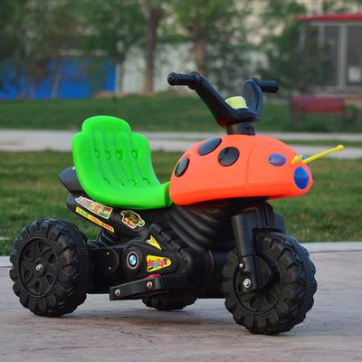 Xe điện ba bánh hình chú bọ cánh cứng cho trẻ em