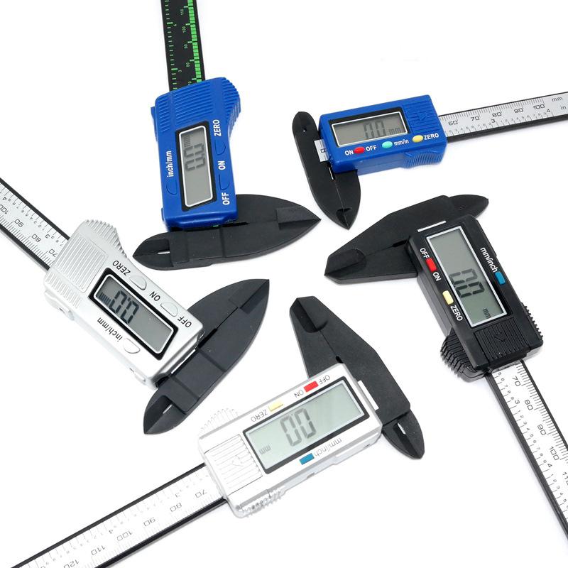 Thước kẹp điện tử caliper nhựa kỹ thuật số 0-100
