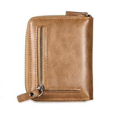 Ví đựng thẻ  Ví nam Baellerry retro nam mặt cắt ngang thẻ dây kéo thẻ thanh niên ví nam ví