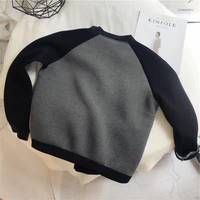 Áo khoác Không gian cotton khâu màu áo khoác 2019 mùa thu sản phẩm mới phiên bản nhỏ của phụ nữ dây