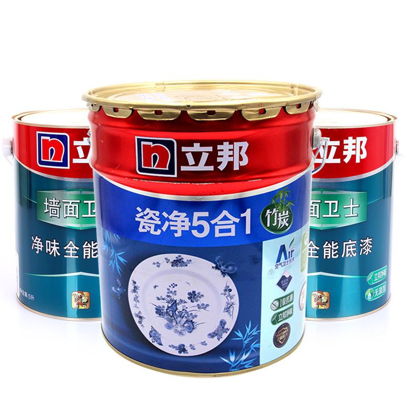 Nippon Sơn Tre Than sứ Net Làm sạch Tường nội thất 5 trong một Sơn latex Sơn trắng môi trường Sơn mớ