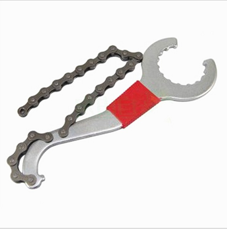 LEIWEI Dụng cụ bảo hộ Xe đạp đa năng loại trục trung tâm công cụ bánh đà / cờ lê xích móc đuôi / côn