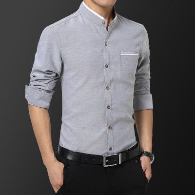 tay dài Mùa thu đông 2019 áo mới kinh doanh áo dài thanh niên mặc ngoài dài tay nam tự tu luyện màu