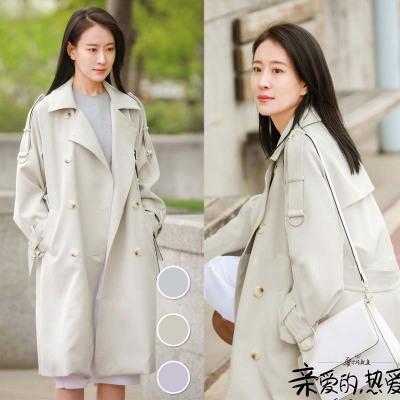 áo khoác Ngôi sao cùng áo gió nữ nữ dài 2019 mùa thu nữ mới phiên bản Hàn Quốc của áo khoác dụng cụ