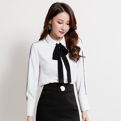 tay dài Mùa thu 2019 cửa hàng mới của phụ nữ Áo sơ mi Hàn Quốc tay áo chuyên nghiệp đi lại OL áo sơ