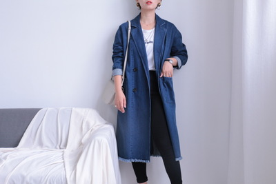 áo khoác Áo khoác denim Hàn Quốc áo khoác dài giản dị áo gió 2019 nguồn bán trực tiếp