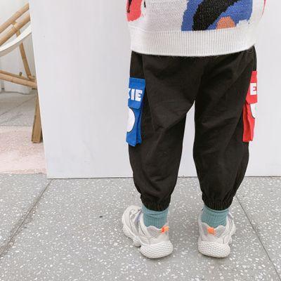 Quần trẻ em  Trẻ em mặc một thế hệ mùa thu quần trẻ em mới hoạt hình Phiên bản Hàn Quốc của quần ống