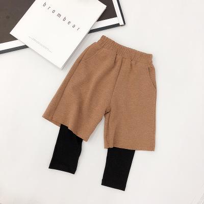 Quần trẻ em  An An Ma bé gái mùa thu quần đẹp hoang dã nữ trẻ em chân rộng giả hai mảnh legging 2019