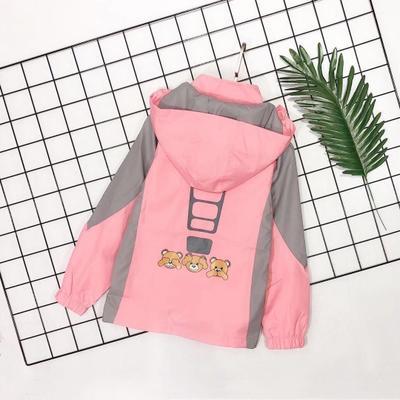 Áo khoác trẻ em  Mùa thu 2019 trẻ em mới mặc áo khoác trùm đầu giản dị in áo khoác trẻ em