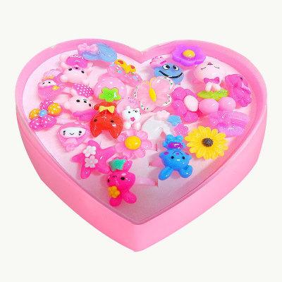 Thị trường đồ chơi 24 vòng nhựa trang sức trẻ em Phim hoạt hình dễ thương tình yêu hộp quà tặng cô g