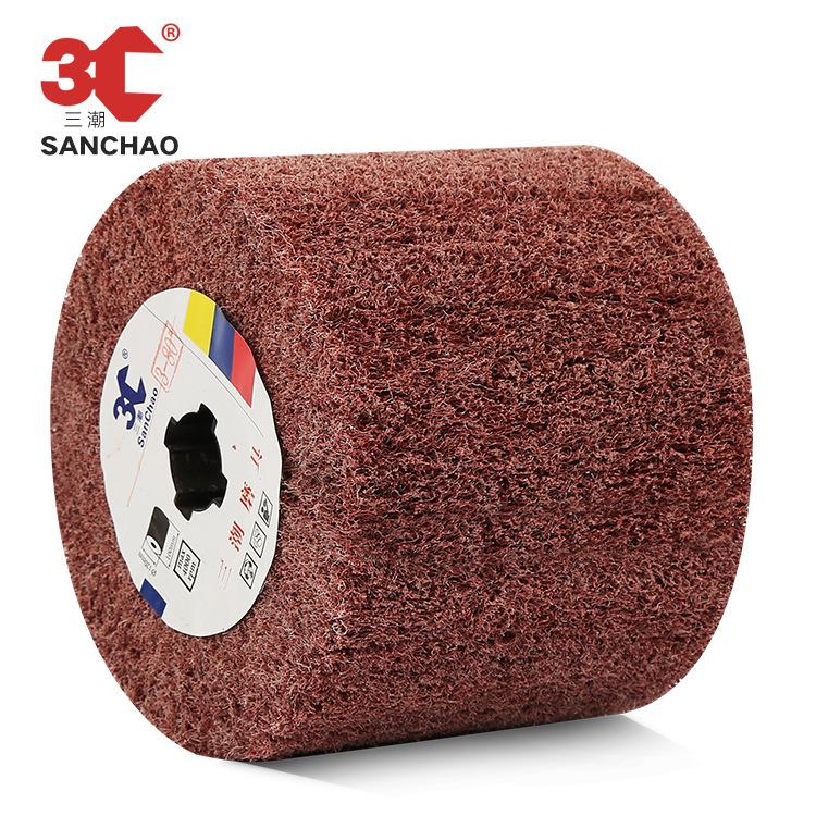 SANCHAO Công cụ mài Nhà máy tùy chỉnh mài mòn xử lý lõi vẽ bánh xe kim loại đánh bóng sợi bánh xe cọ