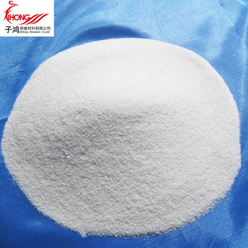 ZIHONG Vật liệu mài mòn Zibo nhà sản xuất bột đánh bóng corundum trắng chịu lửa với nước rửa mẫu trắ