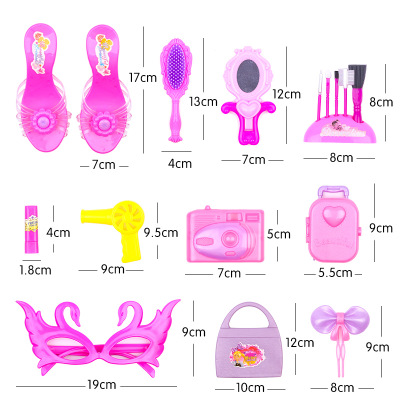 Thị trường đồ chơi Sản phẩm mới bán mô phỏng mỹ phẩm trẻ em phụ kiện tóc đồ chơi set girl house bàn