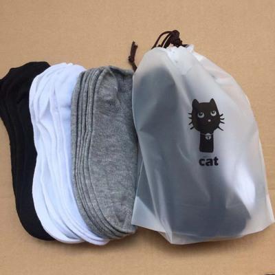 Vớ trẻ em  Vớ nam mèo con mười màu rắn màu thấp ống polyester thể thao vớ thường mười túi đôi vớ nhà