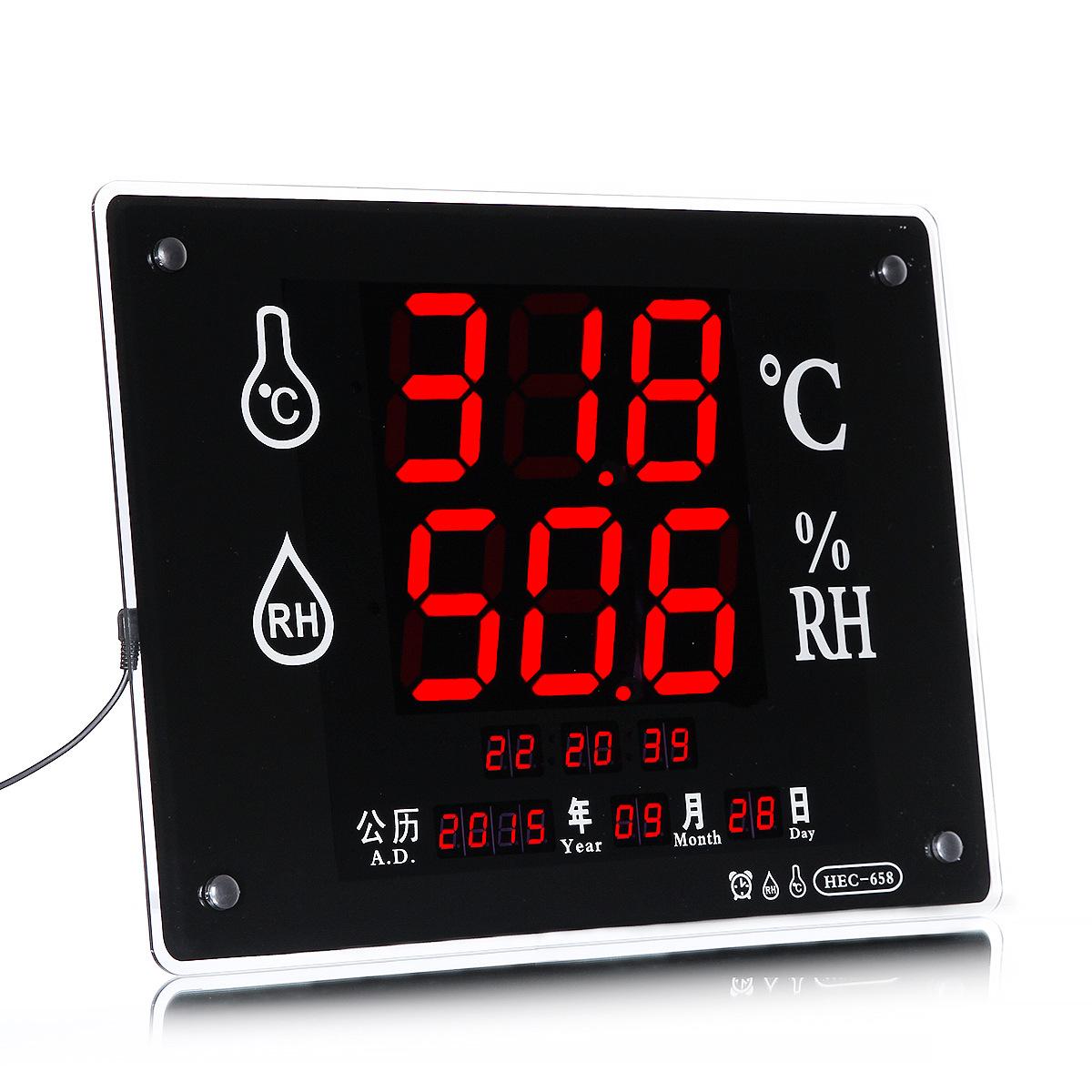 Đồng hồ đo nhiệt độ , độ ẩm Nhiệt kế điện tử và ẩm kế chính xác cao LED phòng thí nghiệm công nghiệp