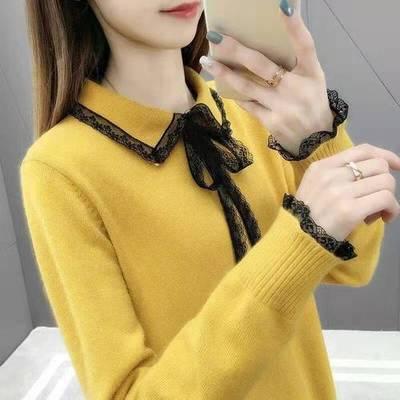 tay dài Quần áo mùa thu mới của phụ nữ 2019 với áo len dài tay ở phần cuối của chiếc áo len rất phổ