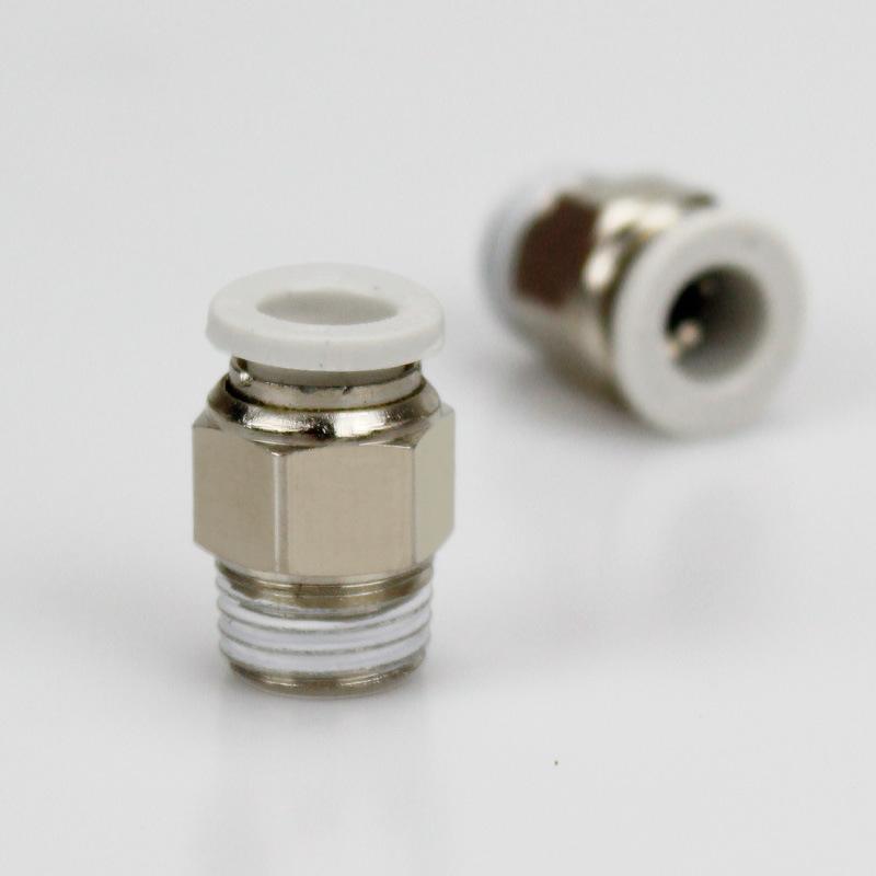 WERBUR Linh kiện khí nén PC vòi kết nối nhanh khí quản kết nối nhanh chóng kết nối luồng khí thẳng t