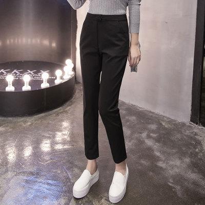 Quần Casual  Quần tây nữ mùa thu 2019 phiên bản Hàn Quốc của quần phù hợp với quần cạp cao Slim là q