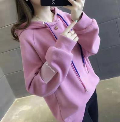 áo khoác Có video ~ 2019 xuân hè áo mới áo len rộng trùm đầu phiên bản Hàn Quốc