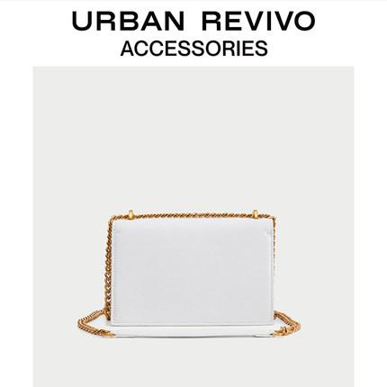 Túi xách nữ thời trang  UR ĐÔ LA mùa hè REVIVO2019 phụ kiện mới của phụ nữ túi đeo chéo hình thoi A