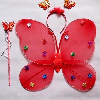 Thị trường đồ chơi Nhà máy trực tiếp một lớp cánh bướm ba bộ gậy cổ tích sáu một mẫu giáo Giáng sinh