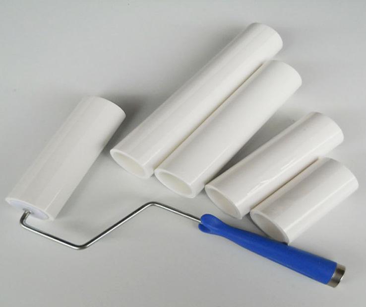 LONGBANG Con lăn dính 4 inch 6 inch 8 inch 10 inch 12 inch Teaable thùng nhựa trắng làm sạch con lăn