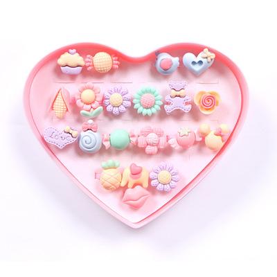 Thị trường đồ chơi Phim hoạt hình thiếu nhi tình yêu hộp quà tặng vòng nhựa trang sức vòng tay macar