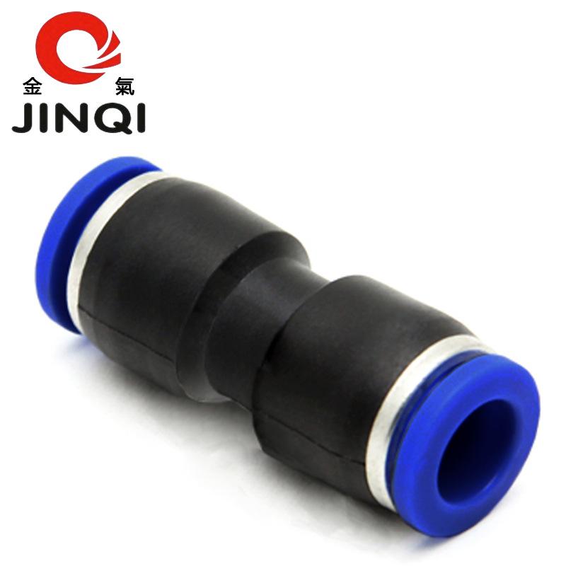 JINQI Linh kiện khí nén Nhựa khí vàng thẳng qua đường kính bằng nhau PU-4/6/10/12/14/16 / 16mm lắp r