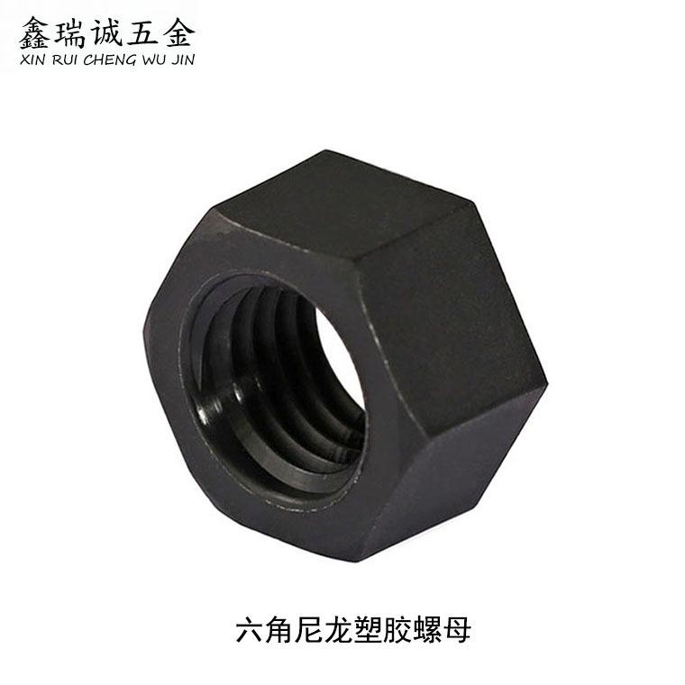 XINRUICHENG Tán Nhà sản xuất bán buôn hex nylon nhựa nut M2-M12 đen nylon hex nut