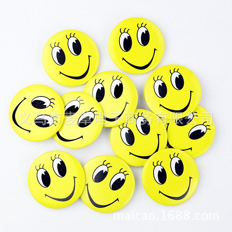 Thị trường đồ chơi Smiley Badge Smiley Badge Cartoon Trâm trẻ em Badge Gift Gift 4,5cm Nhà máy lớn B