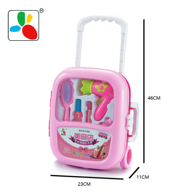 Thị trường đồ chơi Chơi nhà lưu trữ đồ chơi hộp sản phẩm mới nhà sản xuất trẻ em chơi nhà xe đẩy trư