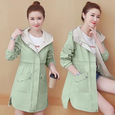 áo khoác Áo xuân hè 2019 mới phổ biến áo khoác nữ dài phần mỏng là áo gió học sinh phiên bản Hàn Quố