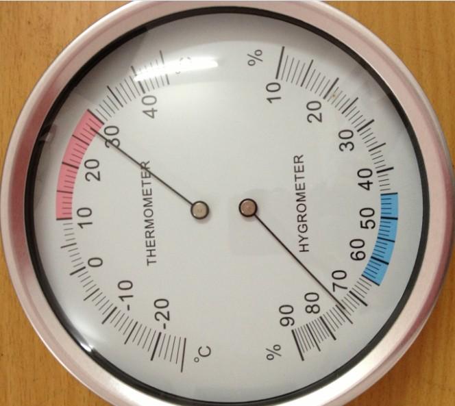 Nhiệt kế con trỏ và ẩm kế 132mm bảng đo độ ẩm trong nhà và ngoài trời