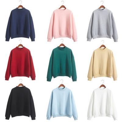 áo khoác Hàn Quốc màu rắn cộng với áo len nhung nữ mùa thu và mùa đông mới đồng phục bóng chày học s