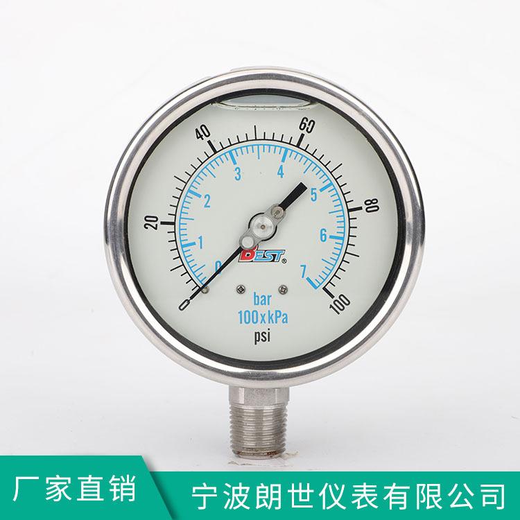 LANGSHI Đồng hồ đo áp suất chính xác bằng thép không gỉ