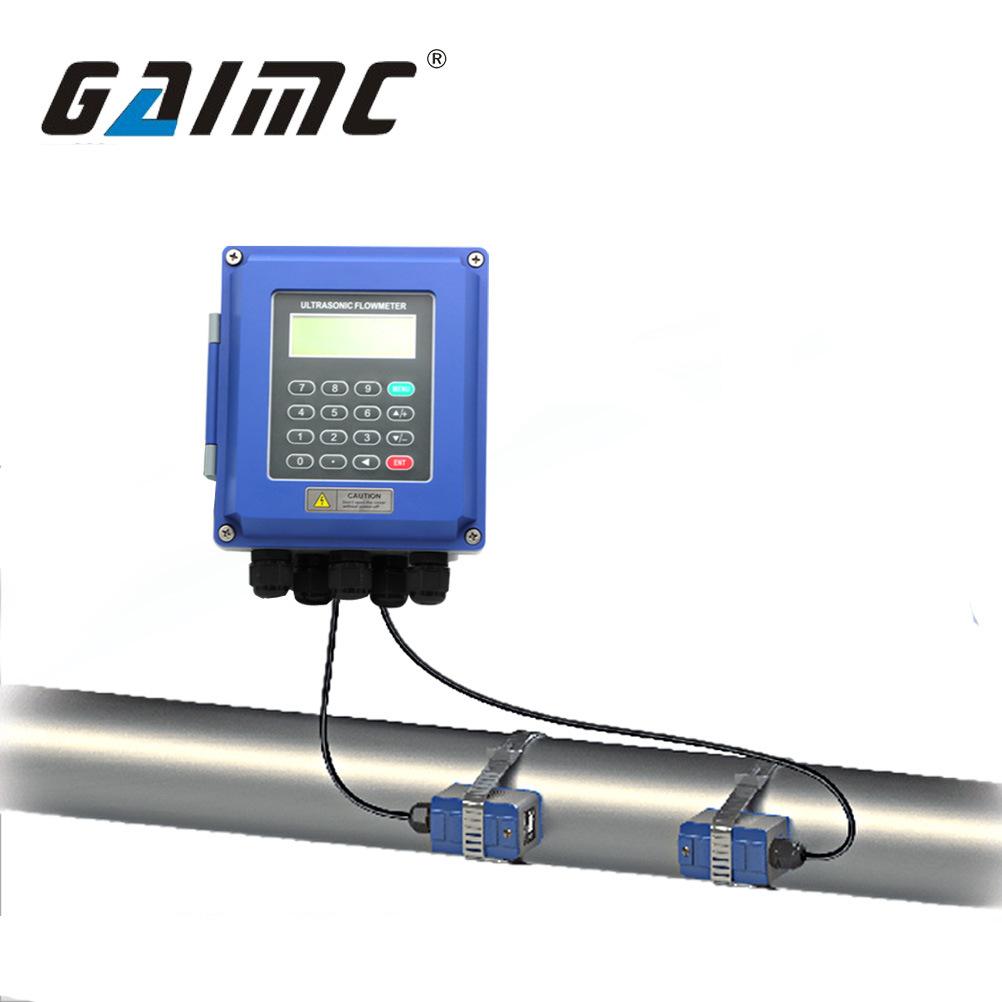 GAIMC Đồng hồ đo lưu lượng dòng chảy Đồng hồ đo lưu lượng siêu âm gắn trên tường loại kẹp nhiệt siêu