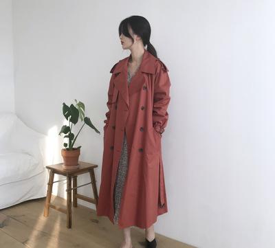 áo khoác [HÀN QUỐC] Áo gió đỏ 19SS-Hawthorn INS gió-CHIC giải trí đầu thu đặc biệt với sự hài lòng c