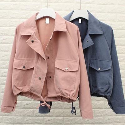 Áo khoác Mùa xuân 2019 phiên bản mới của Hàn Quốc với áo khoác lửng đơn ngực mỏng, áo khoác dài tay