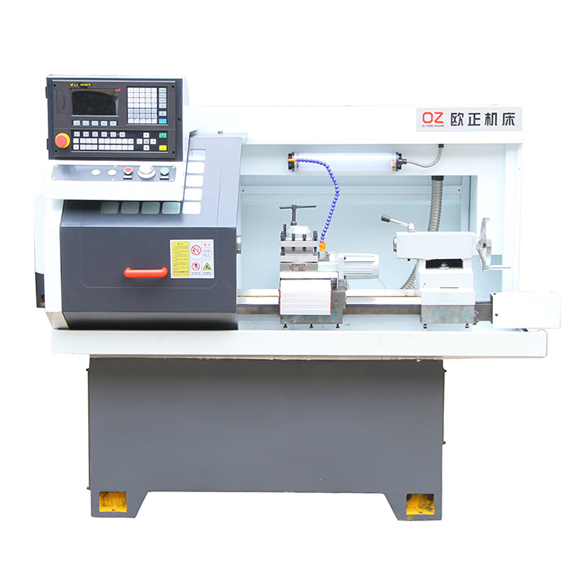 OUZHENG Máy tiện CNC Máy công cụ nhỏ CJK0640AC-L Tự động cho ăn đường rạch đường ray chính xác Máy t
