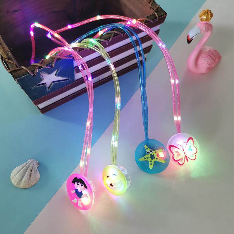 Thị trường đồ chơi Glowing vòng cổ flash đồ chơi trẻ em đồ chơi dạ quang sinh nhật quà tặng đêm chợ