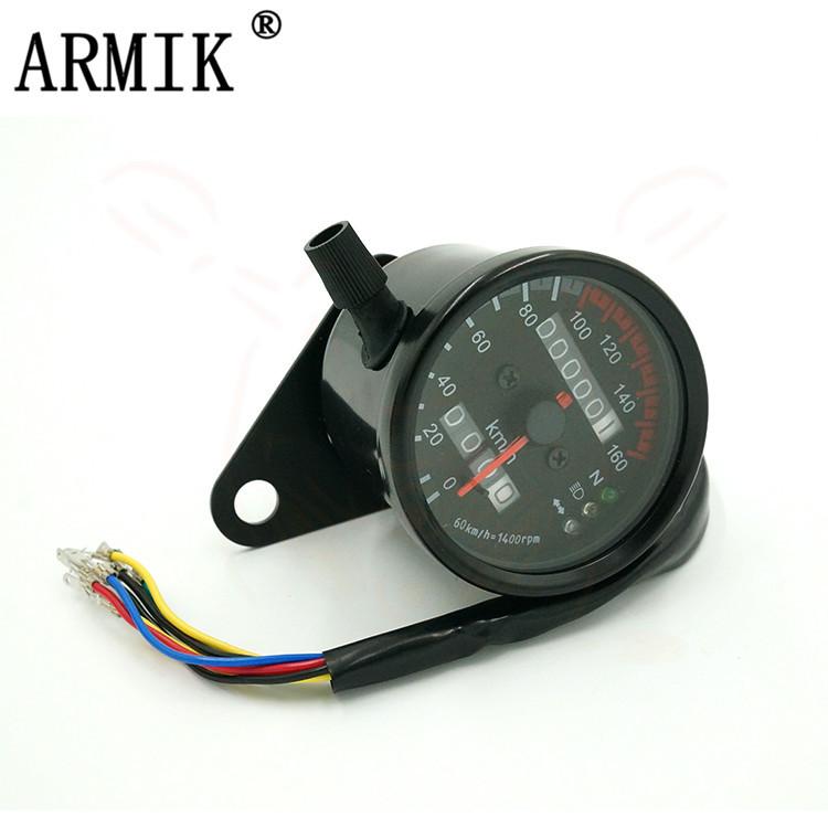 ARKIM Đồng hồ chuyên dùng vỏ kim loại cho xe máy retro